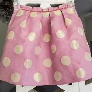 Cute pink skirt with gold polkadots